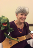 Lydia Adams Davis and her friend, Iguana.
